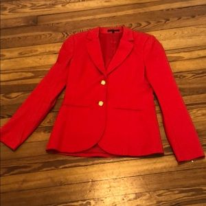 000c040645 Blazer-Theory size 6. Zipper sleeves, 2 buttons.